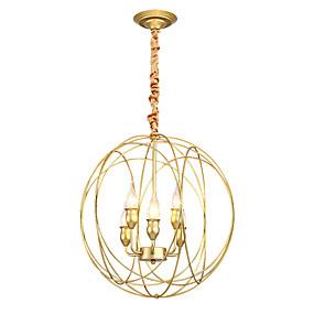 preiswerte Ausverkauf-Zhishu 6-Licht kreisförmige Globus Pendelleuchte Uplight lackiert Metall neues Design 110-120V / 220-240V