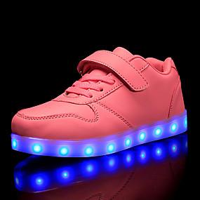 preiswerte Schuhe für Kinder-Jungen / Mädchen Leuchtende LED-Schuhe / Weihnachten PU Sneakers Kleine Kinder (4-7 Jahre) / Große Kinder (ab 7 Jahren) LED Rot / Blau / Rosa Herbst / Party & Festivität