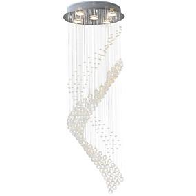 povoljno Poboljšanje uvjeta stanovanja-5-Light Privjesak Svjetla Downlight Electroplated Metal Crystal, LED 110-120V / 220-240V Meleg fehér / Hladno bijela Bulb Included / GU10