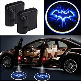 preiswerte Ungewöhnliche Lampen und Lichter-2pcs drahtlose Autotür führte Laserprojektor-Schattenlichtauto-styling Autoinnenlampenlicht