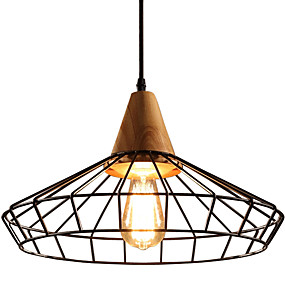 povoljno Viseća rasvjeta-Fenjer / industrijski Privjesak Svjetla Ambient Light Drvo Wood / Bamboo New Design 110-120V / 220-240V