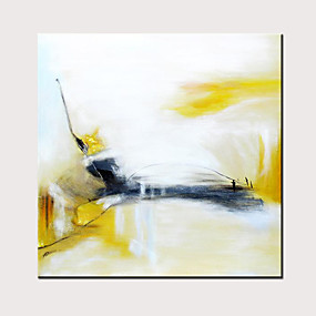 preiswerte Abstrakte Gemälde-Hang-Ölgemälde Handgemalte - Abstrakt Modern Ohne Innenrahmen