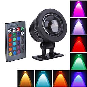 billige Flomlys-1pc 10 W 800 lm LED perler Vanntett RGB 12 V