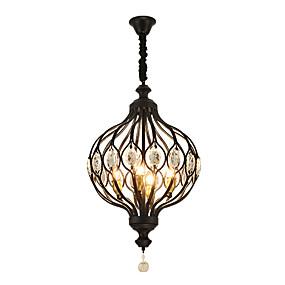 povoljno Viseća rasvjeta-zhishu privjesak za svijeću sa 4 svjetla u obliku svijetlećeg osvjetljenja oslikana završnim obradama metala kreativan 110-120v / 220-240v