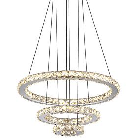 povoljno Viseća rasvjeta-Cirkularno Lusteri Ambient Light Electroplated Metal Crystal, LED 110-120V / 220-240V Žuta / Hladno bijela