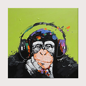 preiswerte Abstrakte Gemälde-Hang-Ölgemälde Handgemalte - Abstrakt Pop - Art Modern Ohne Innenrahmen