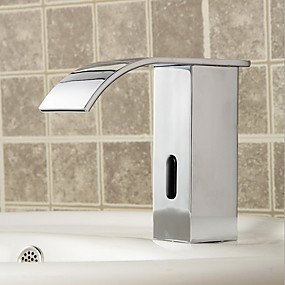 cheap Induction Faucets-Bathroom Sink Faucet - Sensor Electroplated Other Hands free One HoleBath Taps / Brass