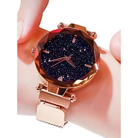 preiswerte Schmuck & Armbanduhren-Damen Uhr Luxus-Armbanduhren Armbanduhr Quartz Uhr Legierung Schwarz / Blau / Lila 30 m Wasserdicht Imitation Diamant Analog damas Freizeit Modisch Purpur Blau Rotgold