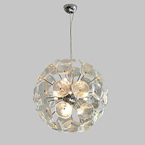 povoljno Viseća rasvjeta-QIHengZhaoMing 9-Light Privjesak Svjetla Ambient Light Electroplated Metal Glass 110-120V / 220-240V Meleg fehér