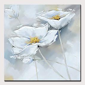 povoljno Slike za cvjetnim/biljnim motivima-Hang oslikana uljanim bojama Ručno oslikana - Sažetak / Cvjetni / Botanički Moderna Bez unutrašnje Frame