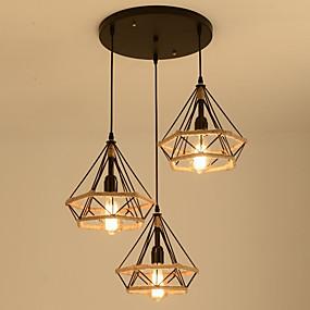 povoljno Lámpatestek-Konus s 3-svjetlosnim / industrijskim konopljim konopom ambijentalna svjetlost obojena je metalnim konopom, kreativan 110-120v / 220-240v