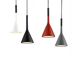 povoljno Viseća rasvjeta-Ecolight™ Konus / Geometrijski / Mini Privjesak Svjetla Ambient Light Anodized Aluminij Resin Mini Style, Kreativan, Prilagodljiv 110-120V / 220-240V Meleg fehér / Bijela