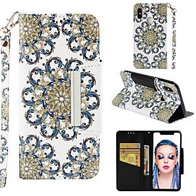 povoljno Maske za mobitele-Θήκη Za Xiaomi Xiaomi Mi 8 Novčanik / Utor za kartice / Zaokret Korice Cvijet Tvrdo PU koža