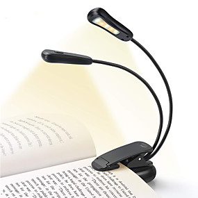cheap Lamps & Lamp Shades-Reading Light Book Light Easy Clip on Rechargeable 5500-6000K 5 LED Beads  for Reading in Bed 9 Brightness Lightweight 4-6 Hours Reading