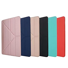 cheap iPad case-Case For Apple iPad Air / iPad 4/3/2 / iPad Mini 3/2/1 Shockproof / with Stand / Flip Full Body Cases Solid Colored TPU / Silica Gel