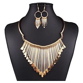 povoljno Nakit za vjenčanje i izlaske-Žene Izjava Ogrlice Rese Jedinstven dizajn pomodan Hiperbola Naušnice Jewelry Zlato / Pink Za Party Festival 1set