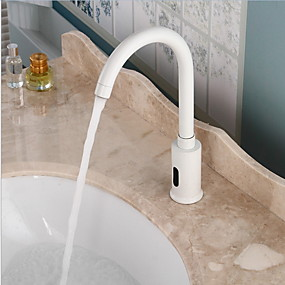 cheap COMMERCIAL-Bathroom Sink Faucet - Touch / Touchless Electroplated Free Standing Hands free One HoleBath Taps / Brass