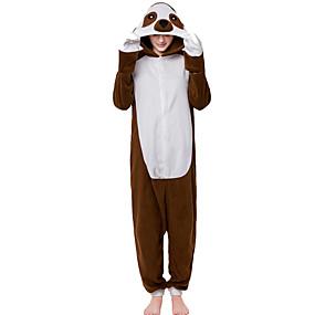 preiswerte Cosplay Costumes-Erwachsene Kigurumi-Pyjamas Faultier Pyjamas-Einteiler Polar-Fleece Braun Cosplay Für Herren und Damen Tiernachtwäsche Karikatur Fest / Feiertage Kostüme