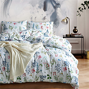 preiswerte Schonbezüge-Bettbezug-Sets Geometrisch Polyester Bedruckt 3 StückBedding Sets