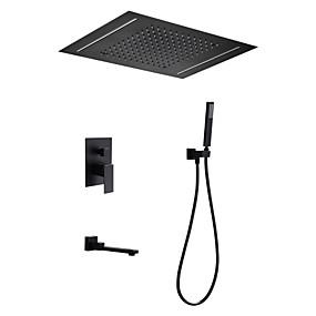preiswerte Armaturen-Duscharmaturen - Moderne Lackierte Oberflächen Duschsystem Keramisches Ventil Bath Shower Mixer Taps / Messing