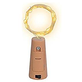 preiswerte Lampen-1m Leuchtgirlanden 10 LEDs SMD 0603 Warmes Weiß / Weiß / Mehrfarbig Wasserfest / Party / Dekorativ Batterien angetrieben 1pc
