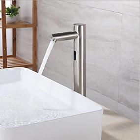 Χαμηλού Κόστους Βρύσες-άψογη βαλβίδα νεροχύτη μπάνιου - ανοξείδωτος χάλυβας ελεύθερη στάση των χεριών ελεύθερη βρύση / ορείχαλκο