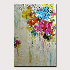 povoljno Slike za cvjetnim/biljnim motivima-Hang oslikana uljanim bojama Ručno oslikana - Pejzaž Cvjetni / Botanički Moderna Bez unutrašnje Frame / Valjani platno