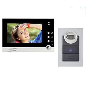 preiswerte ACTOP-ACTOP 7inch Farbdisplay verdrahtet Video-Türsprechanlage für villasupport 1 bis 2 Monitor zy-316210