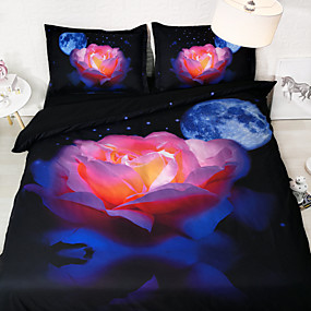 preiswerte Covers 3D Duvet-Bettbezug-Sets Cartoon Design Polyester Bedruckt 3 StückBedding Sets