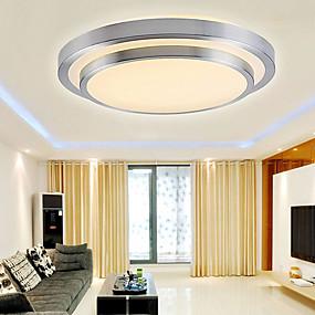 voordelige Verlichtingsarmaturen-Plafond Lampen Neerwaartse Belichting Galvanisch verzilveren PVC Acryl Ministijl, LED 90-240V / 110-120V / 220-240V Warm Wit / Wit