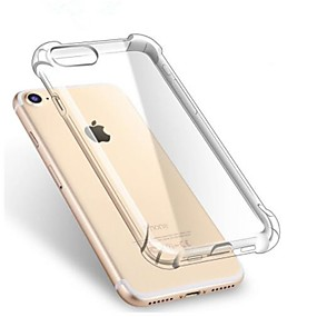 preiswerte Apple accessories push-Hülle Für Apple iPhone X / iPhone 8 Plus / iPhone 8 Stoßresistent / Transparent Rückseite Solide Weich TPU