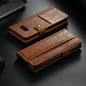 povoljno Maske za mobitele-Θήκη Za Samsung Galaxy Note 8 Novčanik / Utor za kartice / sa stalkom Korice Jednobojni Tvrdo PU koža