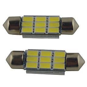 preiswerte Autolicht-2pcs 39mm / 36mm / 41mm Auto Leuchtbirnen 2W SMD 5630 215lm 9 Leselampe