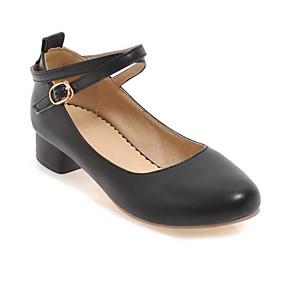 voordelige Damesschoenen met platte hak-Dames PU Herfst Informeel / minimalisme Platte schoenen Platte hak Ronde Teen Wit / Zwart / Beige