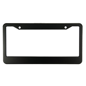 levne Dekorace přední mřížky automobilu-2 ks černých kovových nerezových rámečků poznávacích značek se štítky se šroubovými víčky