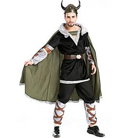 preiswerte Be a Viking!-Seeräuber Vikinger Mützen Kostüm Herrn Film Cosplay Cosplay Schwarz Top Hosen Gürtel Halloween Karneval Maskerade Plüsch Polyester / Hut
