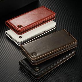 billige Telefoner og tilbehør-caseme etui til samsung galaxy s9 / s9 pluss / s8 pluss lommebok / kortholder / med stativ i helkroppsfarger hardfarget pu-lær