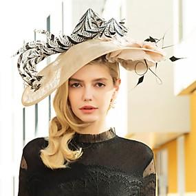 povoljno Melbourne Cup Carnival Hats-Lan Kentucky Derby Hat / Trake za kosu s Perje 1pc Vjenčanje / Zabava / večer Glava