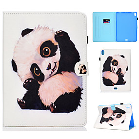 cheap iPad case-Case For Apple iPad Air / iPad 4/3/2 / iPad Mini 3/2/1 Card Holder / with Stand / Flip Full Body Cases Animal / Panda Hard PU Leather / iPad Pro 10.5 / iPad (2017)