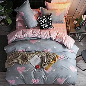 preiswerte Schonbezüge-Bettbezug-Sets Zeitgenössisch Polyester / Baumwolle Reaktivdruck 4 StückBedding Sets