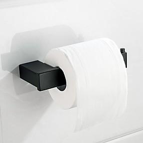 billige Tilbehørssett til badet-matt svart vev holdere speil polert sølvpapir holder rack rustfast sus304 rustfritt stål baderom tilbehør høy kvalitet