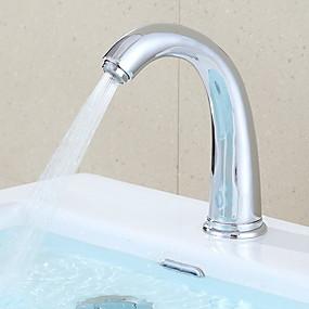 abordables Robinets à induction-Robinet lavabo - Tactile / non tactile Laiton Autre Mains libres un trouBath Taps