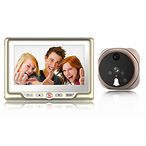 cheap Video Door Phone Systems-Factory OEM Wired Built in out Speaker 4.3 inch Hands-free One to One video doorphone