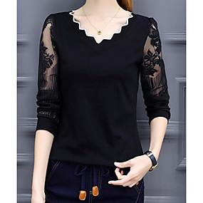 preiswerte Damenbekleidung-Damen Solide - Grundlegend T-shirt Kamel