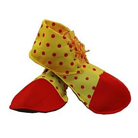preiswerte Cosplay Costumes-Burleske Clown Zirkus Schuhe Erwachsene Herrn Lustig & außergewöhnlich Halloween Halloween Karneval Maskerade Fest / Feiertage Stoff Gelb Karneval Kostüme Punkt