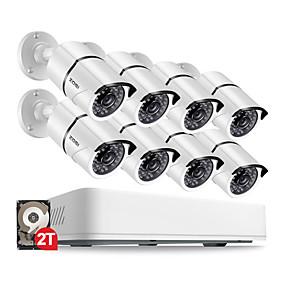 preiswerte Sicherheitssysteme-BNC 5 mp 8 pcs 2560 × 1920 Kugel 30 m 2TB