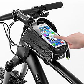 preiswerte Fahrradrahmentaschen-ROCKBROS Handy-Tasche Fahrradrahmentasche 6 Zoll Touchscreen Reflektierend Wasserdicht Radsport für Alles Handy iPhone X iPhone XR Schwarz Rennrad Geländerad / iPhone XS / iPhone XS Max