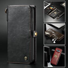 povoljno Maske za mobitele-Θήκη Za Samsung Galaxy Note 9 / Note 8 Novčanik / Utor za kartice / sa stalkom Korice Jednobojni Tvrdo PU koža