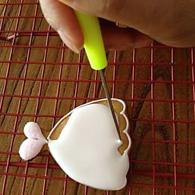 preiswerte Plätzchen-Werkzeuge-2 stück keks nadelkuchen tester backenwerkzeuge edelstahl keks puderzucker nadel gebäckwerkzeuge
