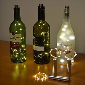 cheap LED String Lights-2m 20 LED Wine Bottle Cork Light StarryWire String Lights for Bottle DIY Table Decoration Christmas Wedding Party